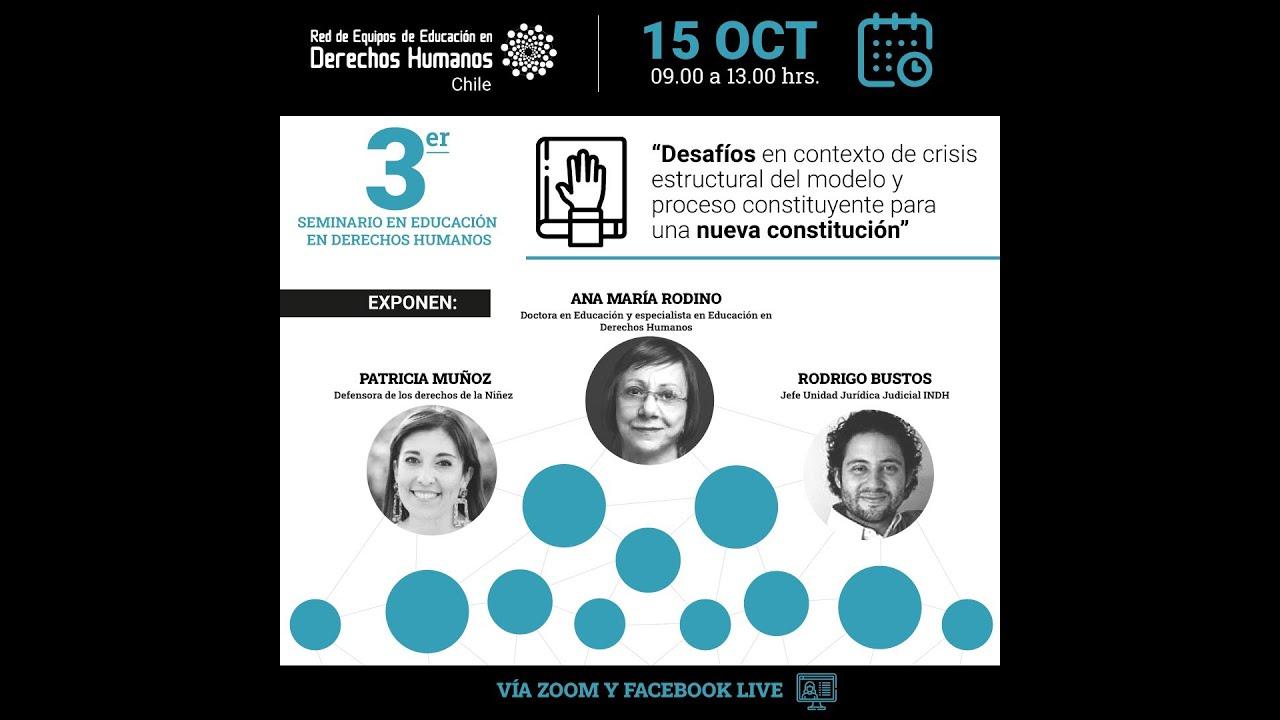 Panel de Conversación. 3er Seminario de Educación en Derechos Humanos REEDH. Chile. 15-10-2020