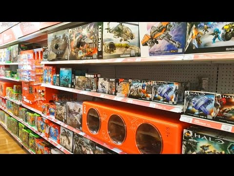 New dedicated Mega Construx aisle at Toys R Us!