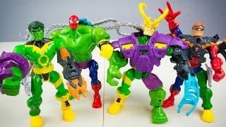 Marvel Avengers Super Hero Mashers The Hulk vs Loki & Spider-Man vs Doc Ock