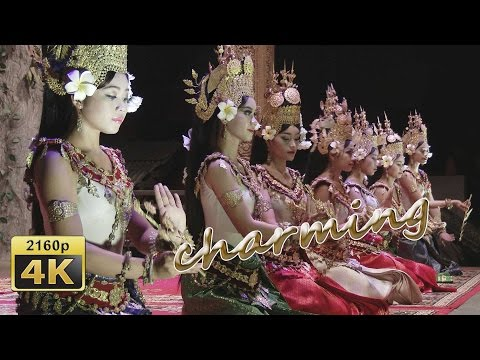 Traditional Khmer Dancing in the Koulen Restaurant in Siem Reap - Cambodia 4K Travel Channel
