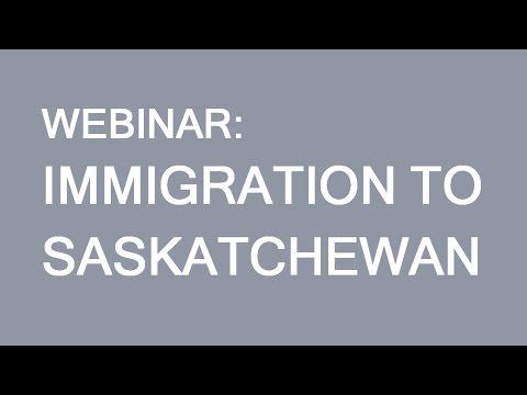 Immigration to Saskatchewan. Webinar for Aisa