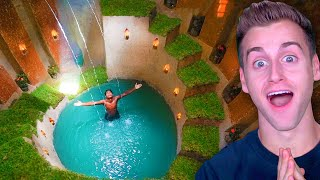 Guy Builds His Dream MILLION DOLLAR POOL HOUSE With His BARE HANDS! (Primitive Technology)