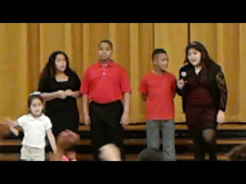 Celebrates black history month , Isaacs Elementary School