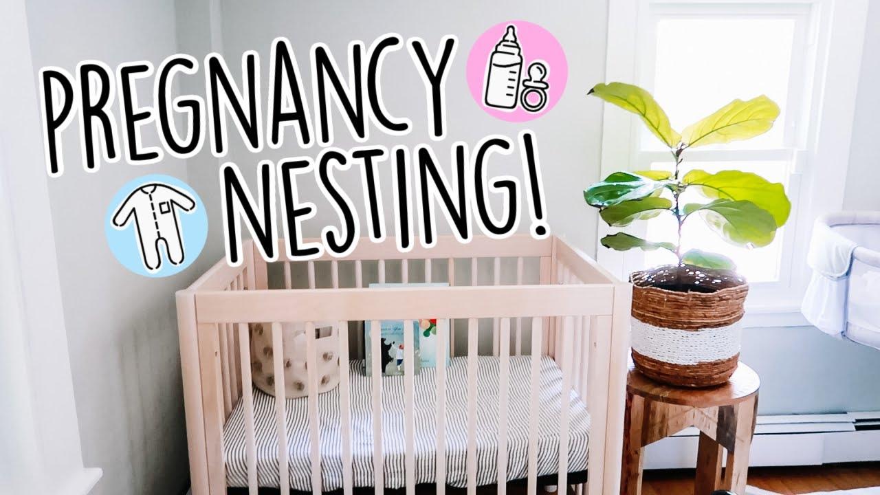 Starting To Nest!    Nursery Room Update + Tour