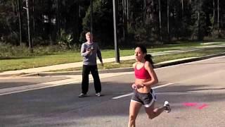 Desiree Davila of Hansons Brooks runs 3 by 3 miles training for Olympic Marathon Trials
