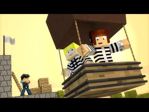 Minecraft : FUGINDO DA CADEIA DE BALÃO !! - ( Polícia e Ladrão)