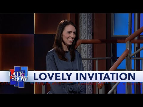 New Zealand PM Jacinda Ardern Invites Stephen Colbert To Visit Her Country
