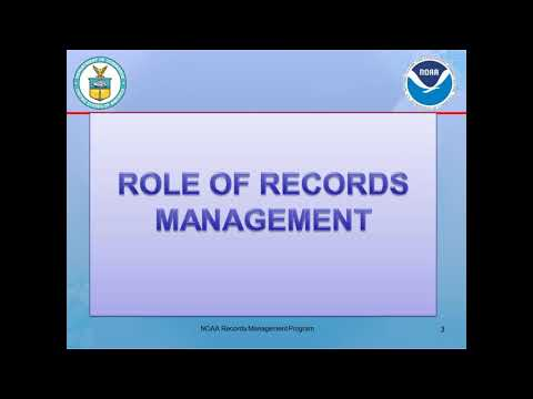 An Introduction To NOAA's Records Management Program, Policies, And Procedures