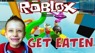 Roblox: Get Eaten - You won't believe how I went flying! | KID GAMING