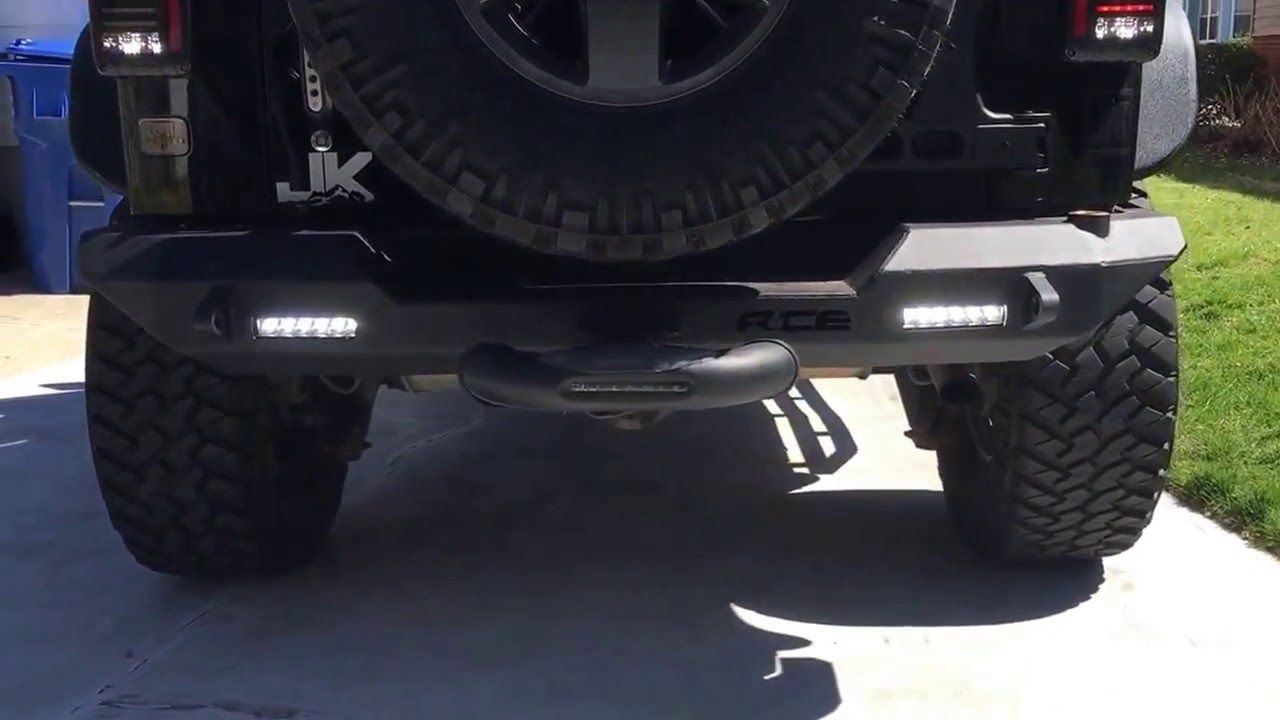 Ace Engineering Jk Pro Series Rear Bumper W Led Provision