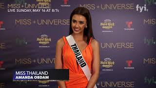 The 69th Miss Universe Competition - Interview with Miss Thailand, Amanda Obdam