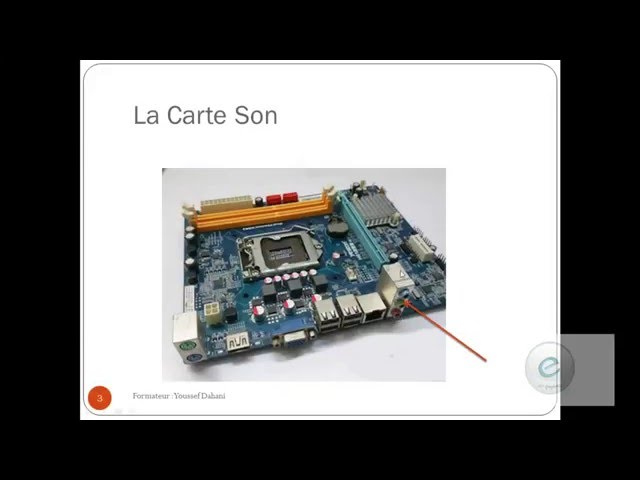 Les Composants de l'ordinateur  10 : Carte Son