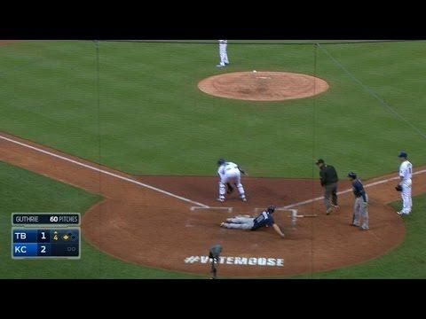 Forsythe ties game on inside-the-park homer