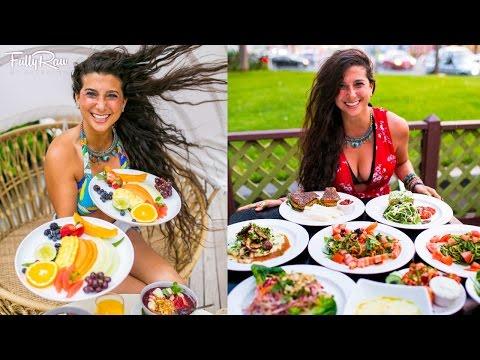 What I Ate Today in Hawaii! FullyRaw Vegan Breakfast, Lunch, & Dinner: VLOG 3-4