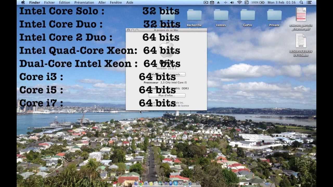 comment savoir si 64 ou 32 bits mac