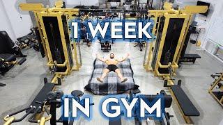 Living 1 Week Straight in Gym Challenge