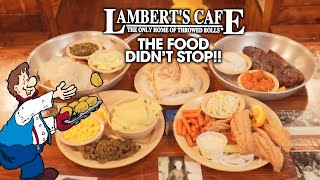 Lambert's Endless Homestyle Food Challenge w/ Throwed Rolls!!