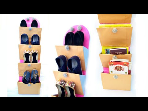 Diy wall mount | multipurpose organiser | cardboard craft