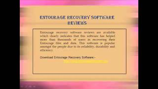 Entourage Recovery Software Review