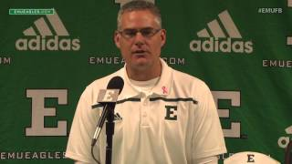 EMU Football Postgame Press Conference - Akron (Oct. 10, 2015)