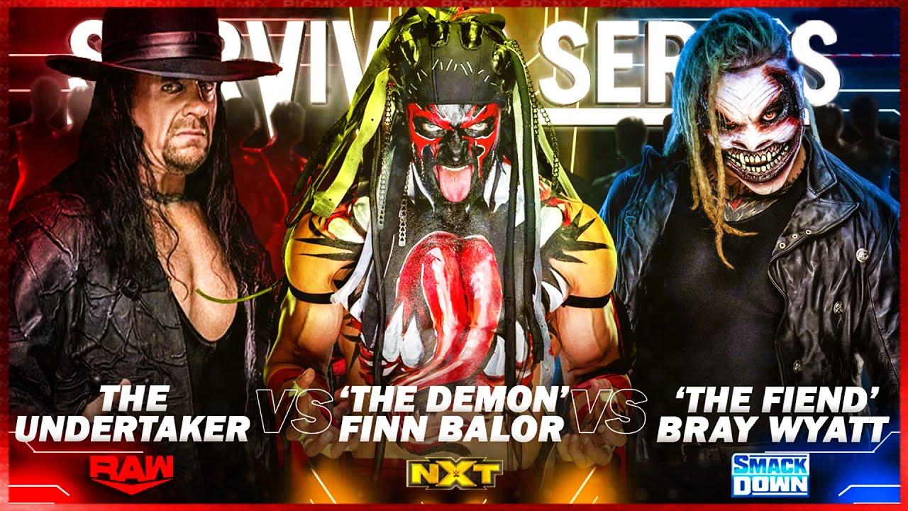 WWE 2K20 : Undertaker Vs Fiend Vs Finn Balor - Wwe Survivor Series 2020 |  Wwe 2k20 Gameplay 60fps HD - YouTube