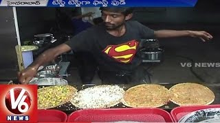 Variety Fastfood | Variety Recipes Attracts Food Lovers | Hyderabad | V6 News