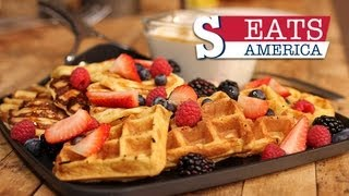 Belgium Waffles Recipe - Sorted Eats