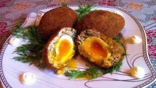 Яйца по-шотландски / Scottish Eggs / Очень Простой Рецепт (Вкусно и Быстро)