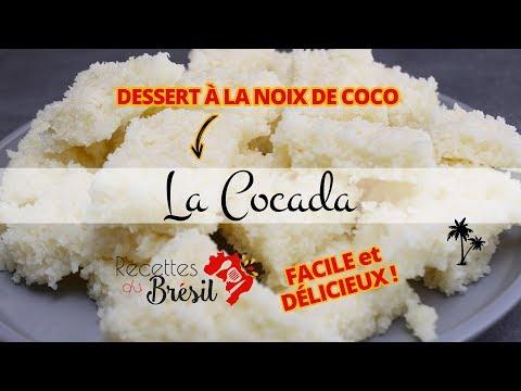 Recette de la cocada - dessert rapide à la noix de coco