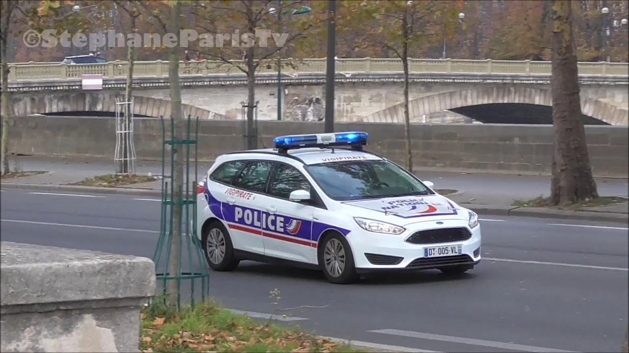 French Police Car Responding Vigipirate Youtube