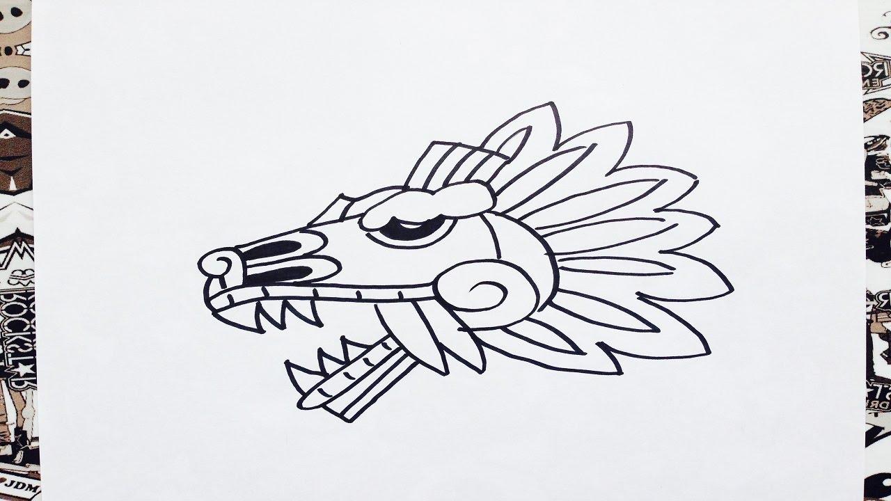 Como Dibujar A Quetzalcoatl How To Draw Quetzalcoatl Como