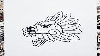 Como dibujar a quetzalcoatl | how to draw quetzalcoatl | como desenhar quetzalcoatl