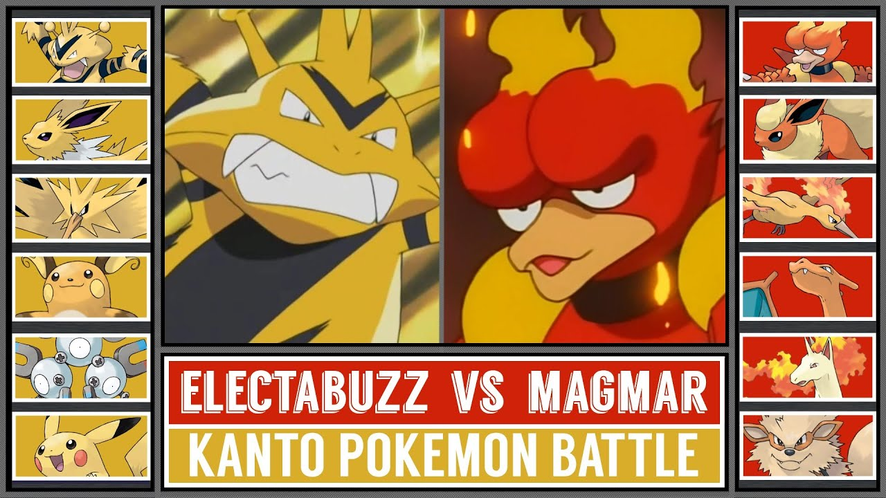 ELECTABUZZ vs MAGMAR | Kanto Type Battle