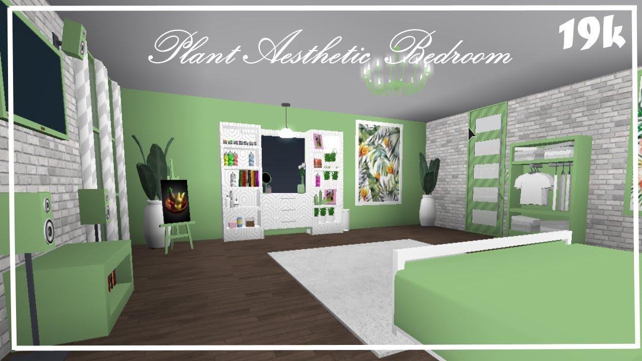 Welcome To Bloxburg: Plant Aesthetic Bedroom 19k