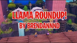 Llama Roundup Fortnite Creative Minigame! // Map trailer + Code