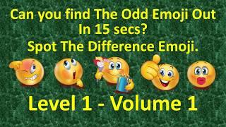spot the difference emoji   spot the odd emoji in 15 seconds   visantube