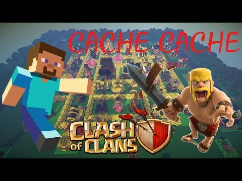 CACHE CACHE MINECRAFT MAP CLASH OF CLANS CLASH ROYALE | PS4 FR
