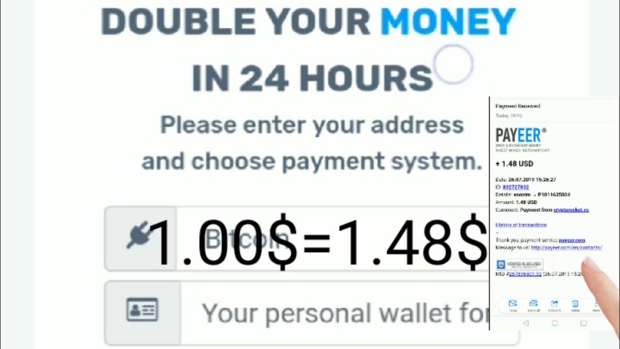 earn after deposite 24h payment. 26.7 2019