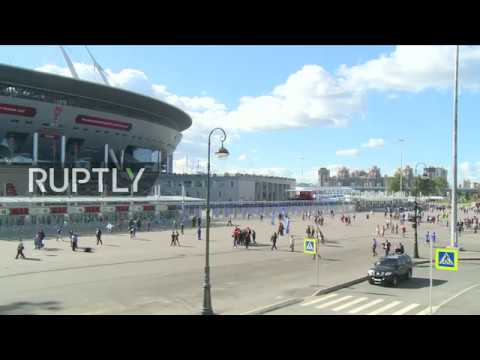 LIVE: Fans head to Zenit Arena ahead of Confederations Cup final match