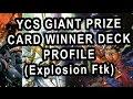 YCS GIANT PRIZE CARD WINNER DECK PROFILE (MONARCH FTK)