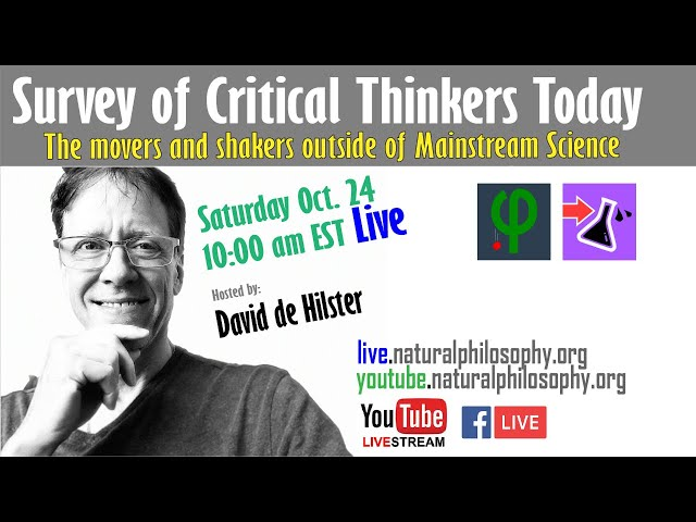 Survey of Critical Thinkers Today with David de Hilster