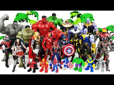 Thor & Hulk vs Thanos Battle, Go~! Avengers Spider Man, Iron Man, Ant Man, Captain America