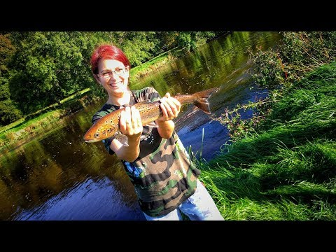 Girlfriend Wins!!! Salmon And Trout R.Nore In Inistioge, Ireland 2017  4K