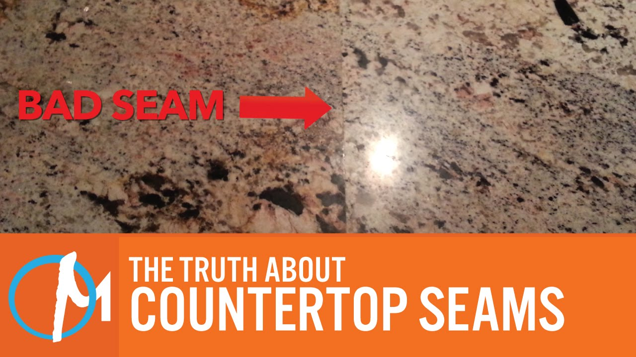 The Truth About Countertop Seams - YouTube