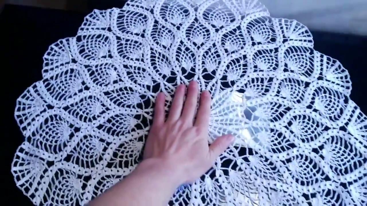 Crochet Pineapple Doily Crochet Pineapple Tablecloth Part 16