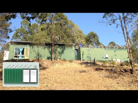 Shipping Container House - Tornado hits shipping container house