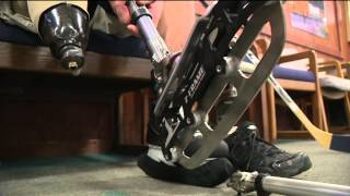 Amputee builds himself one-of-a-kind prosthetic ice skate