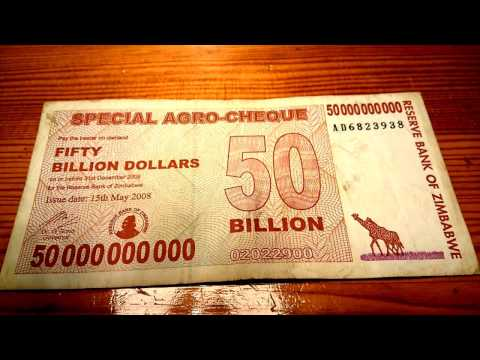 50 Billion Dollars Banknote From Zimbabwe