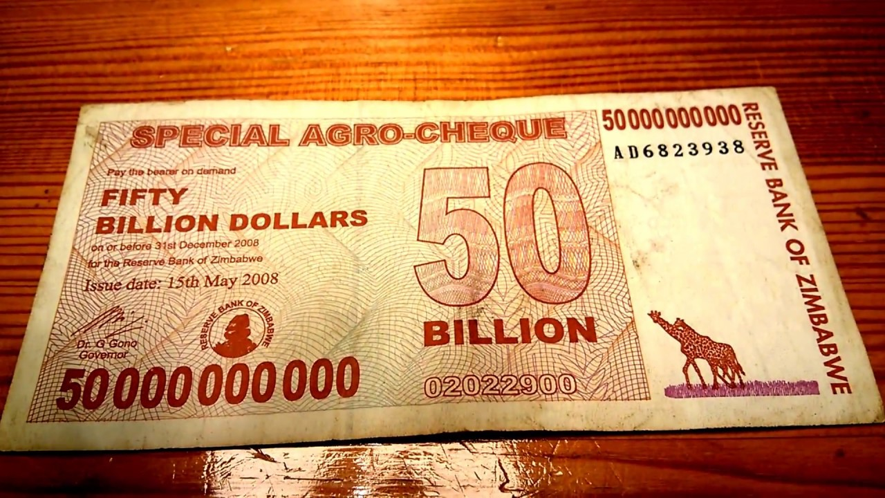 50 Billion Dollars Banknote From