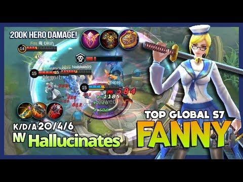 Insane Fanny 200k Damage Hero & 100k Damage Taken by ᶰᵛ Hallucinates Top Global Fanny S7 ~ MLBB